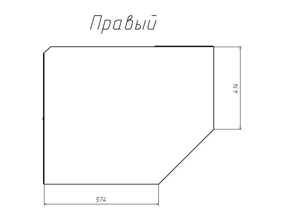 Детские шкафы и стеллажи: Шкаф угловой правый НМ 013.04-02 ПР Рико в Стильная мебель