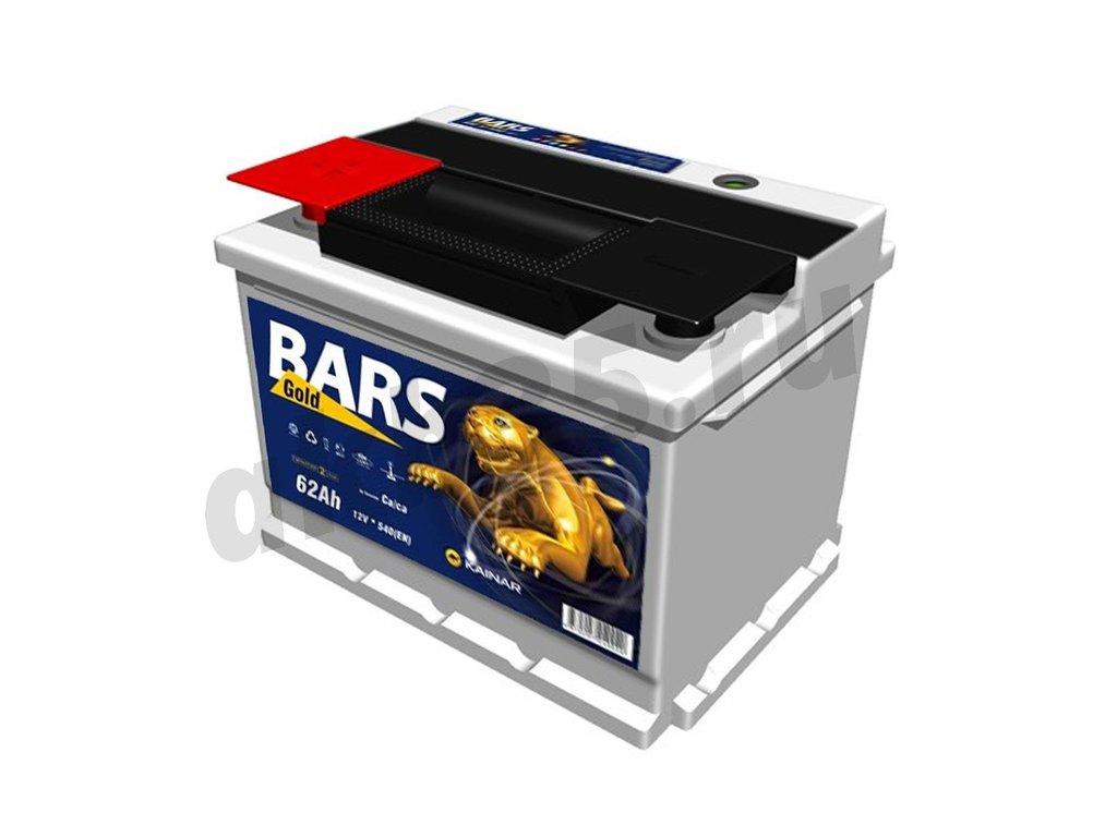 Аккумуляторы: BARS 62 а/ч /П.П./ GOLD в Планета АКБ