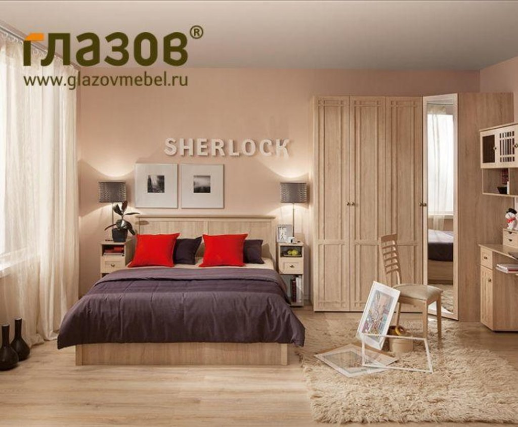 Модульная мебель в спальню SHERLOCK (Дуб Сонома, Ясень Анкор светлый): Модульная мебель в спальню SHERLOCK (Дуб Сонома, Ясень Анкор светлый) в Стильная мебель