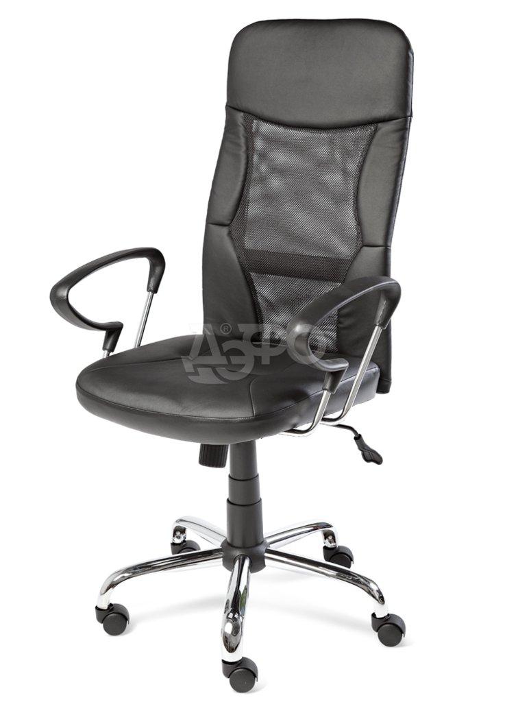 Рабочие кресла: КРК КРЕСЛО ZENIT (QZY-1111) (Y45008) (спинка комб., сид. экокожа, черный) в Дэфо Красноярск