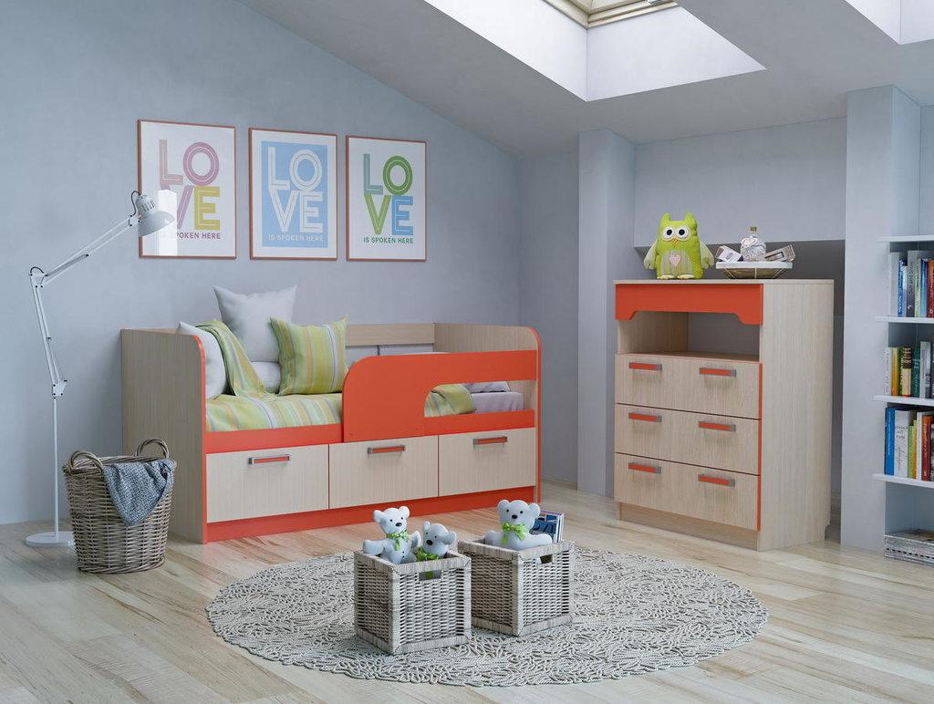 Модульная мебель в детскую Рико: Модульная мебель в детскую Рико в Стильная мебель