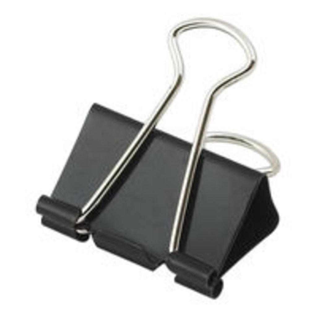 Кнопки, скрепки, зажимы: Зажим 51мм черный 1шт в Шедевр, художественный салон