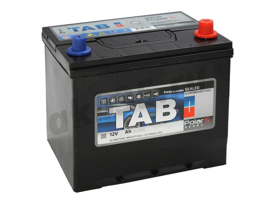 Аккумуляторы: TAB 60 А/ч Обратный Азия Нижнее крепление JIS MF в Планета АКБ