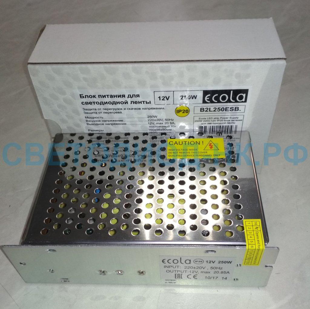 В защитном кожухе: Ecola Блок питания для св/д лент 12V 250W IP20 B2L250ESB в СВЕТОВОД
