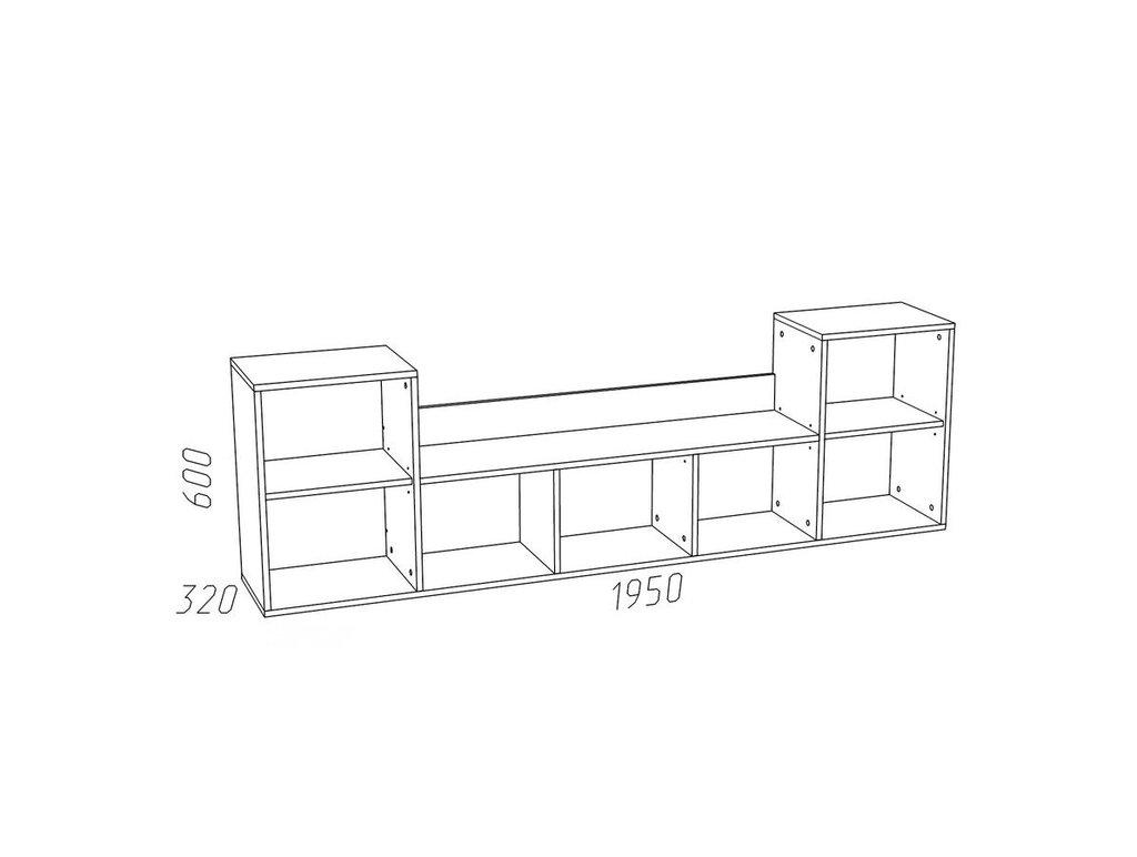 Полки детские: Полка НМ 011.39-02 М Рико-М в Стильная мебель