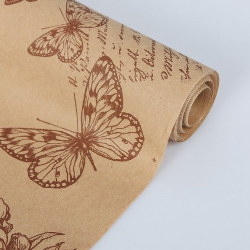 "Упаковочная бумага: Бумага упаковочная крафт ""Палермо"" 0,7 х 10 м в ТортExpress"