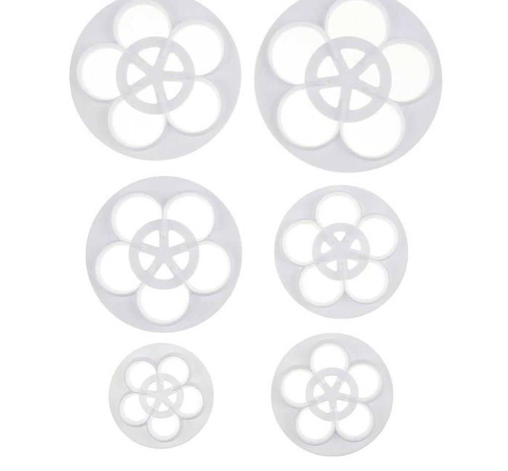 """Вырубки: Набор выемок кондитерских для марципана и теста """"Цветы"""", 6 шт, 10х10х0,7 см в ТортExpress"""