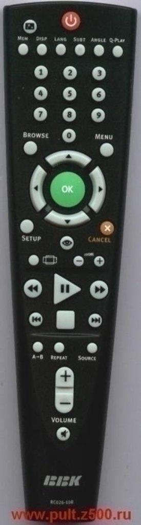 BBK: Пульт BBK RC026-10R (DVD портативный) оригинал в A-Центр Пульты ДУ