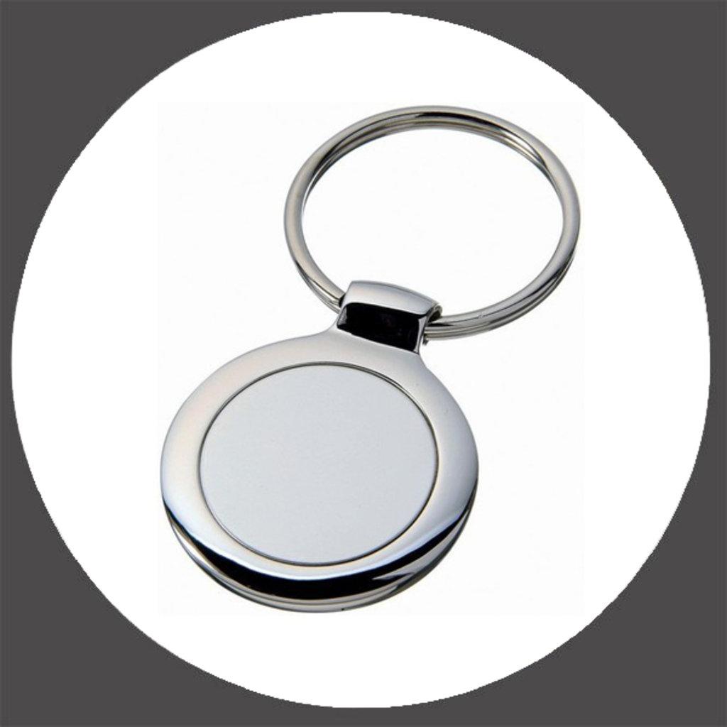 Брелоки: Брелок металлический Круг в NeoPlastic