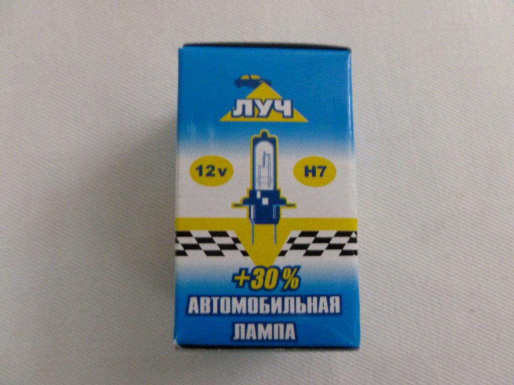 Лампочки для световых приборов автомобиля: автолампа Н7 12V 55W Луч в Автоцентр