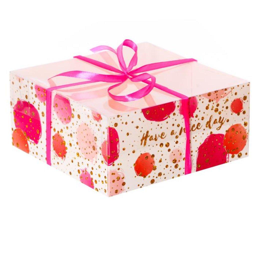 """Коробки для капкейков: Коробка для капкейка """"Have a nice day"""" 16х16х7,5 см. в ТортExpress"""