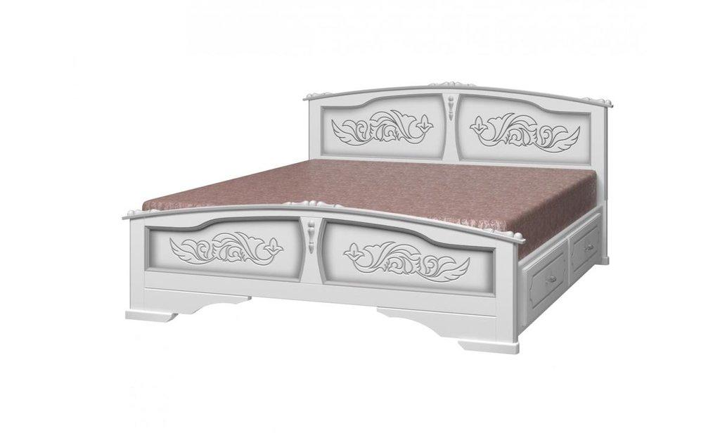 Кровати: Кровать Елена с ящиками (массив) в Уютный дом