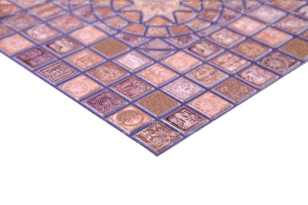 Панели ПВХ: Мозаика Медальон фиолетовый в Мир Потолков