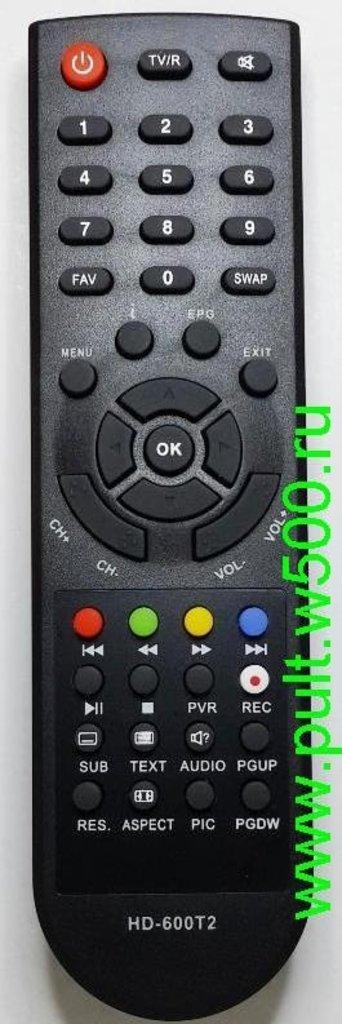 DiVisat: Пульт DiVisat DVS HD-600T2 (DVB-T2) HUAYU в A-Центр Пульты ДУ