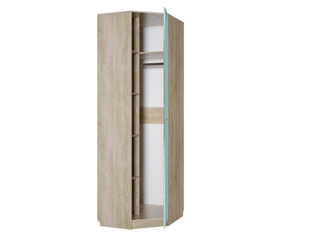 Детские шкафы и стеллажи: Шкаф угловой правый НМ 013.04-02 ПР Акварель в Стильная мебель