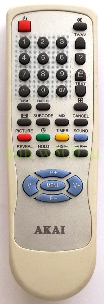 AKAI: Пульт AKAI BT-0384A Techno (TV HDMI CT2908 ) оригинал в A-Центр Пульты ДУ