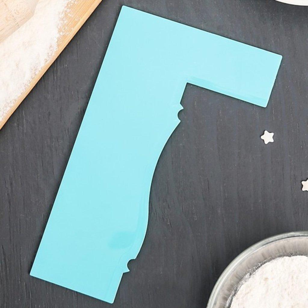 """Для работы с кремом: Шпатель кондитерский 19x11,5 см """"Барельеф"""" в ТортExpress"""