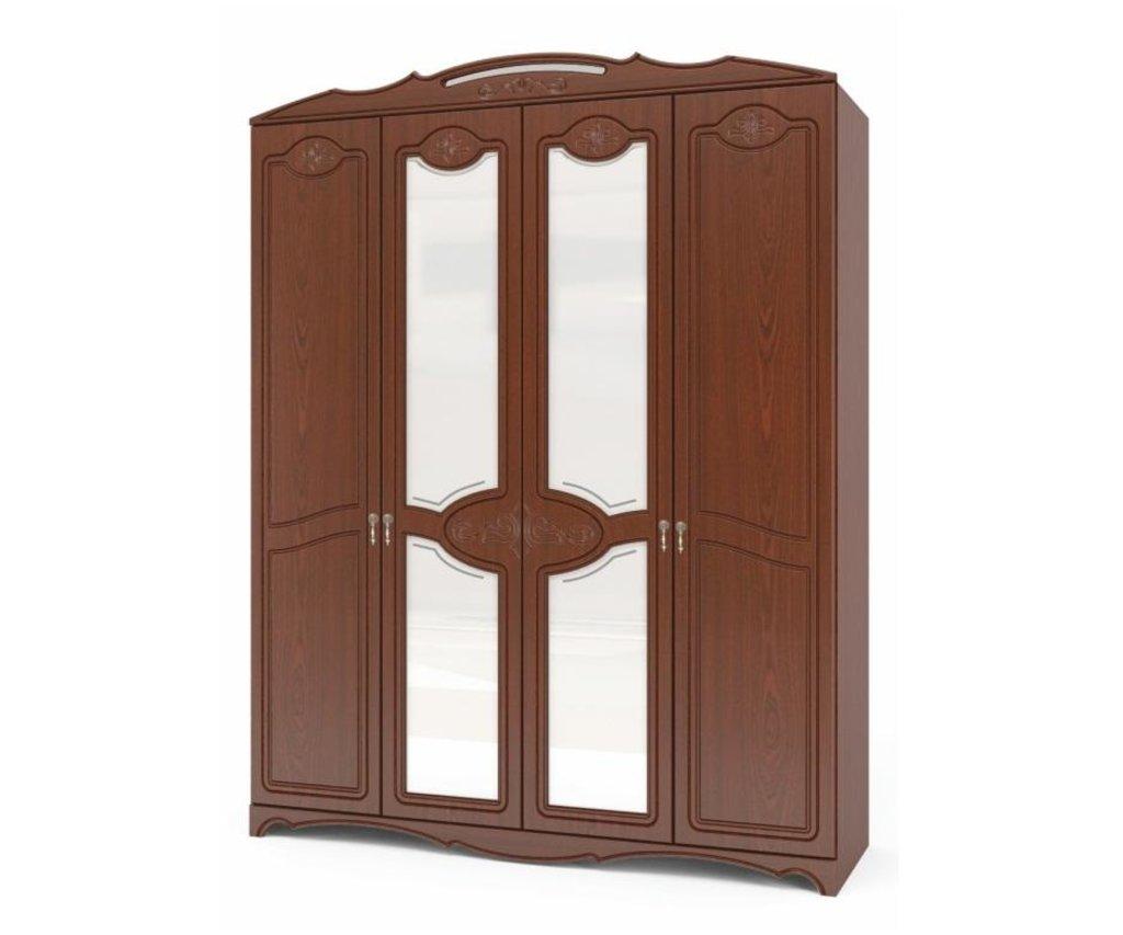Спальни: Шкаф распашной 4-х дверный Лотос в Уютный дом