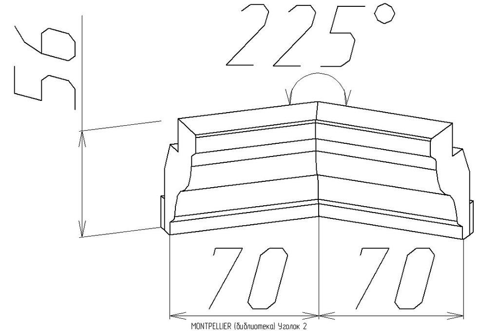 Мебельные направляющие и комплектующие: Уголок 2 Montpellier в Стильная мебель