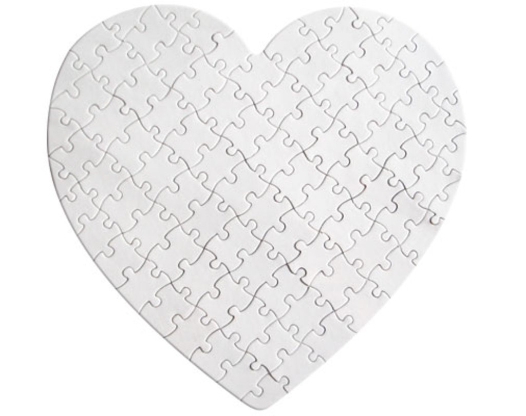 Пазлы: Пазл магнитный в форме сердца в NeoPlastic