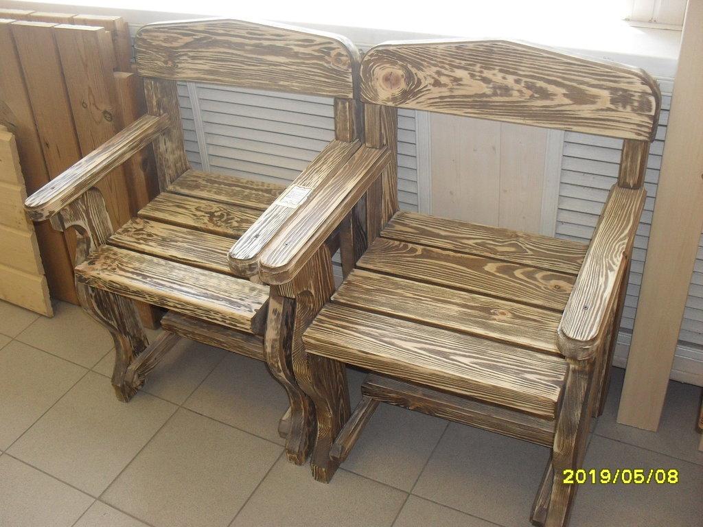Мебель для саун и бань: кресла массив сосны (состаренные) в Погонаж