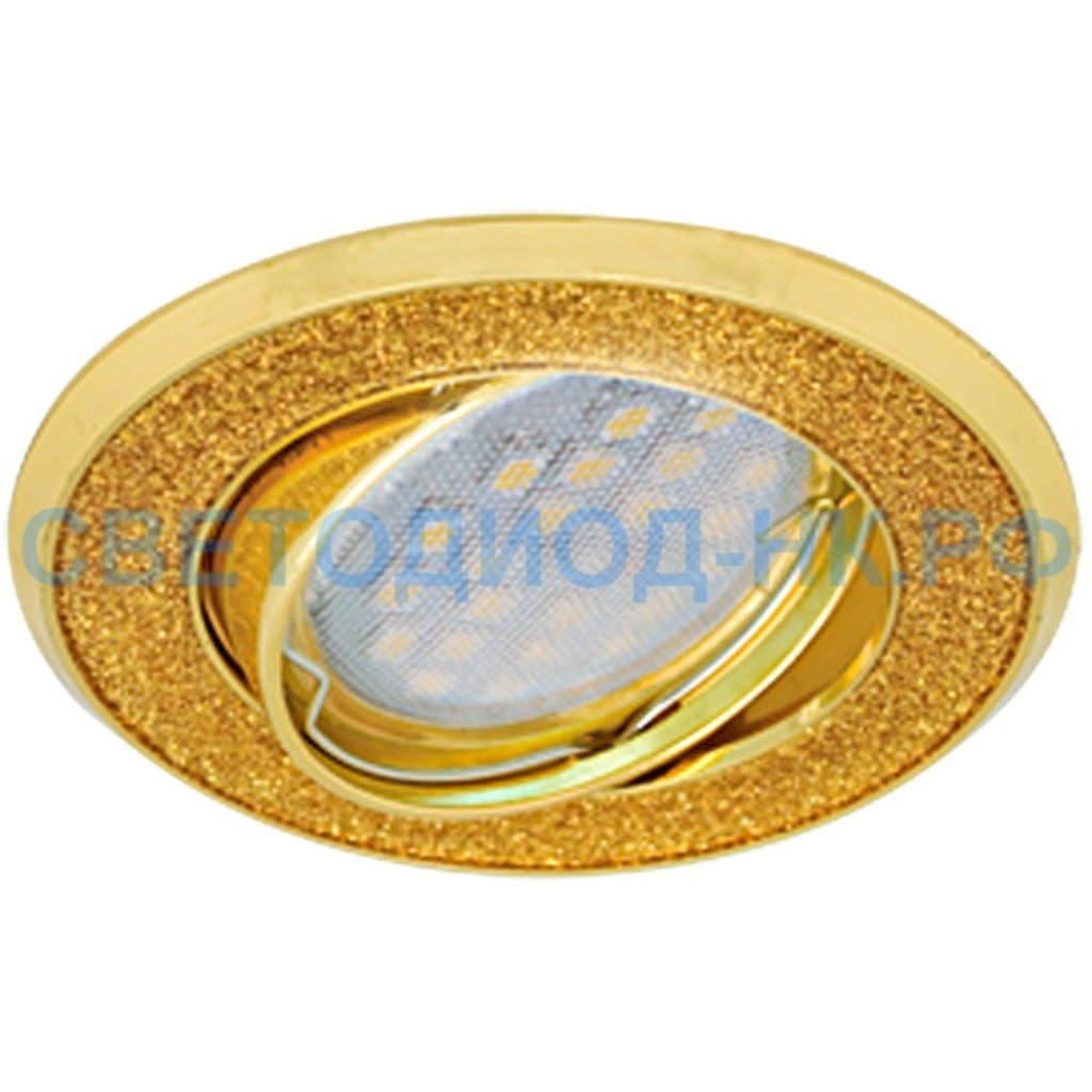 Светильники GU5.3(MR16), MR11: Ecola DL39 MR16 GU5.3 св-к литой поворот.Круг под стекл.Золотой блеск/Золото 23x88 FY1614EFY в СВЕТОВОД