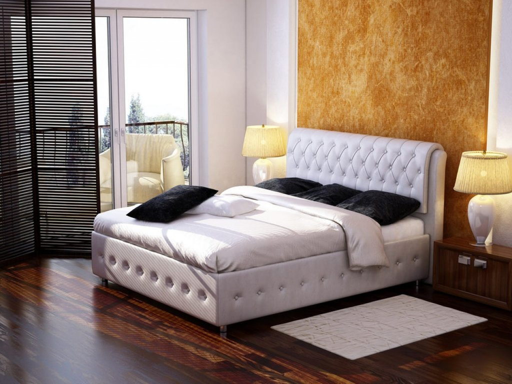 """Кровати: Кровать двуспальная """"Донна"""" в Амадео"""