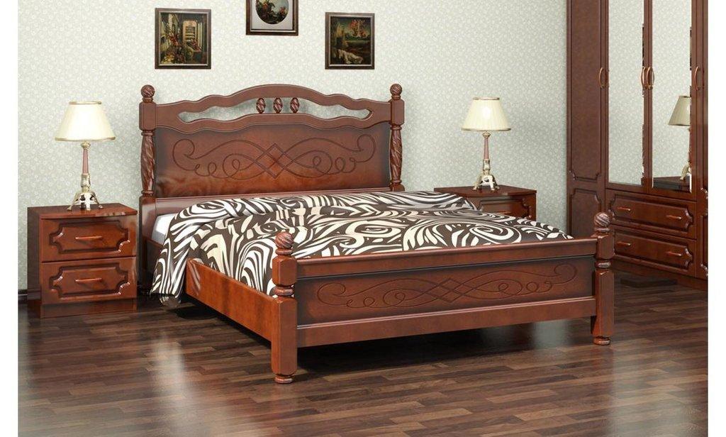 Кровати: Кровать Карина-15 (массив) в Уютный дом