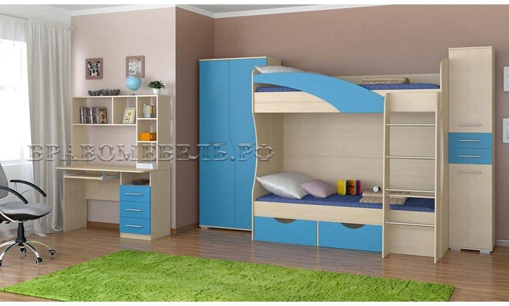 Спальный гарнитур Радуга: Кровать двухъярусная Радуга в Уютный дом