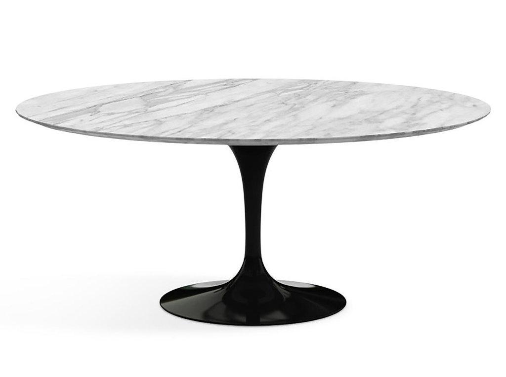 Столы обеденные: Стол обеденный Априори T овальный 100х180 15т мрамор белый в Актуальный дизайн