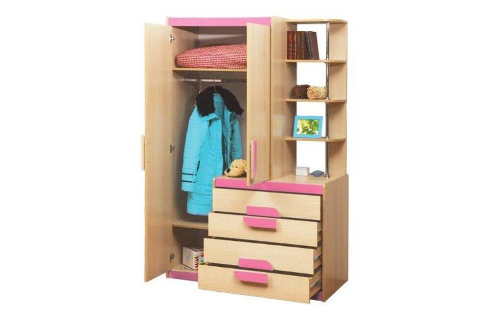 Детские: Шкаф детский комбинированный Лайф-1 розовый в Vesa