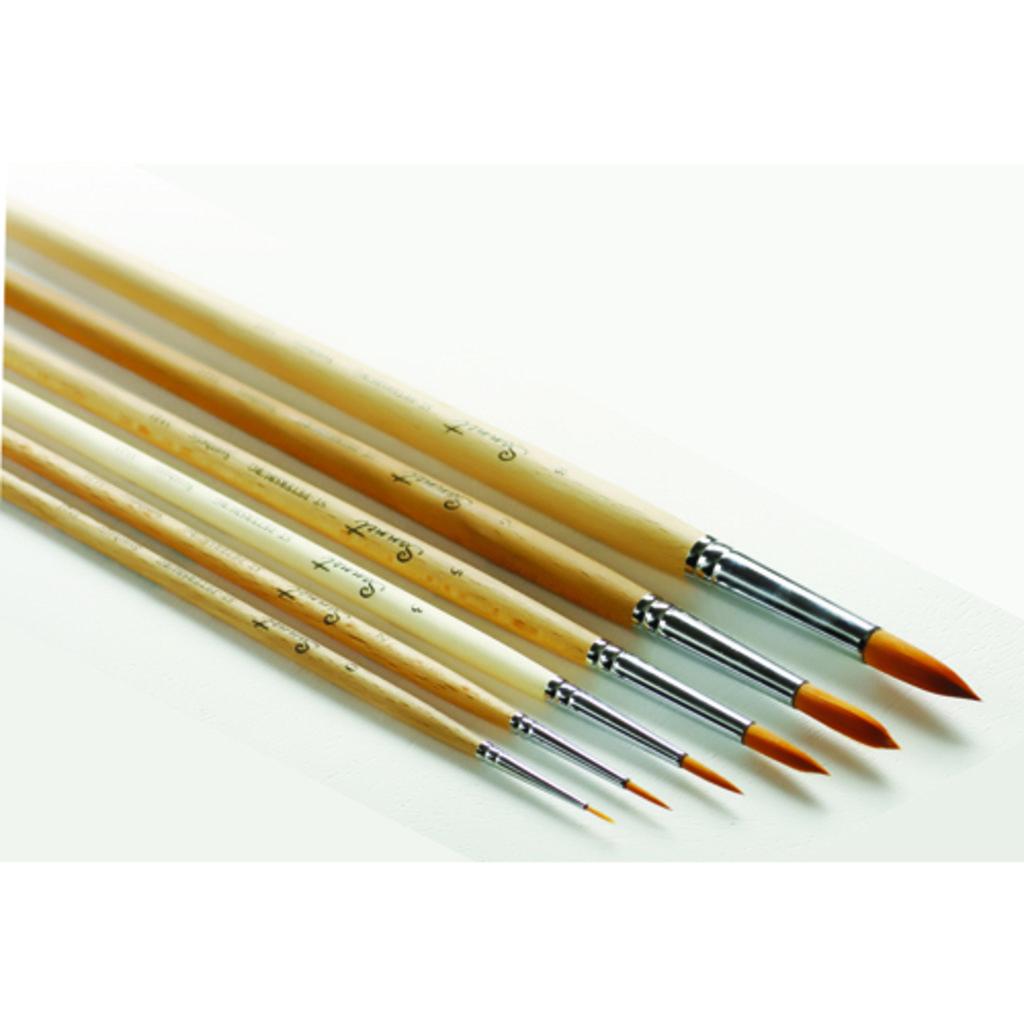 круглая: Кисть синтетическая круглая с длинной ручкой пропитанная лаком Сонет №5 в Шедевр, художественный салон