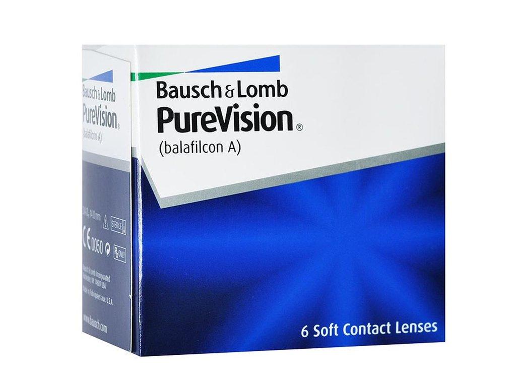 Контактные линзы: Контактные линзы Pure Vision (6шт / 8.6) Bausch & Lomb в Лорнет