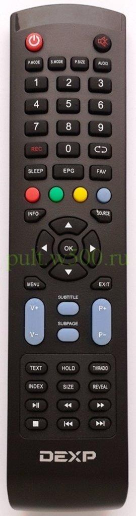 DEXP: Пульт DEXP F42B7000М, F46B7000MD  rec (LCD) оригинал в A-Центр Пульты ДУ