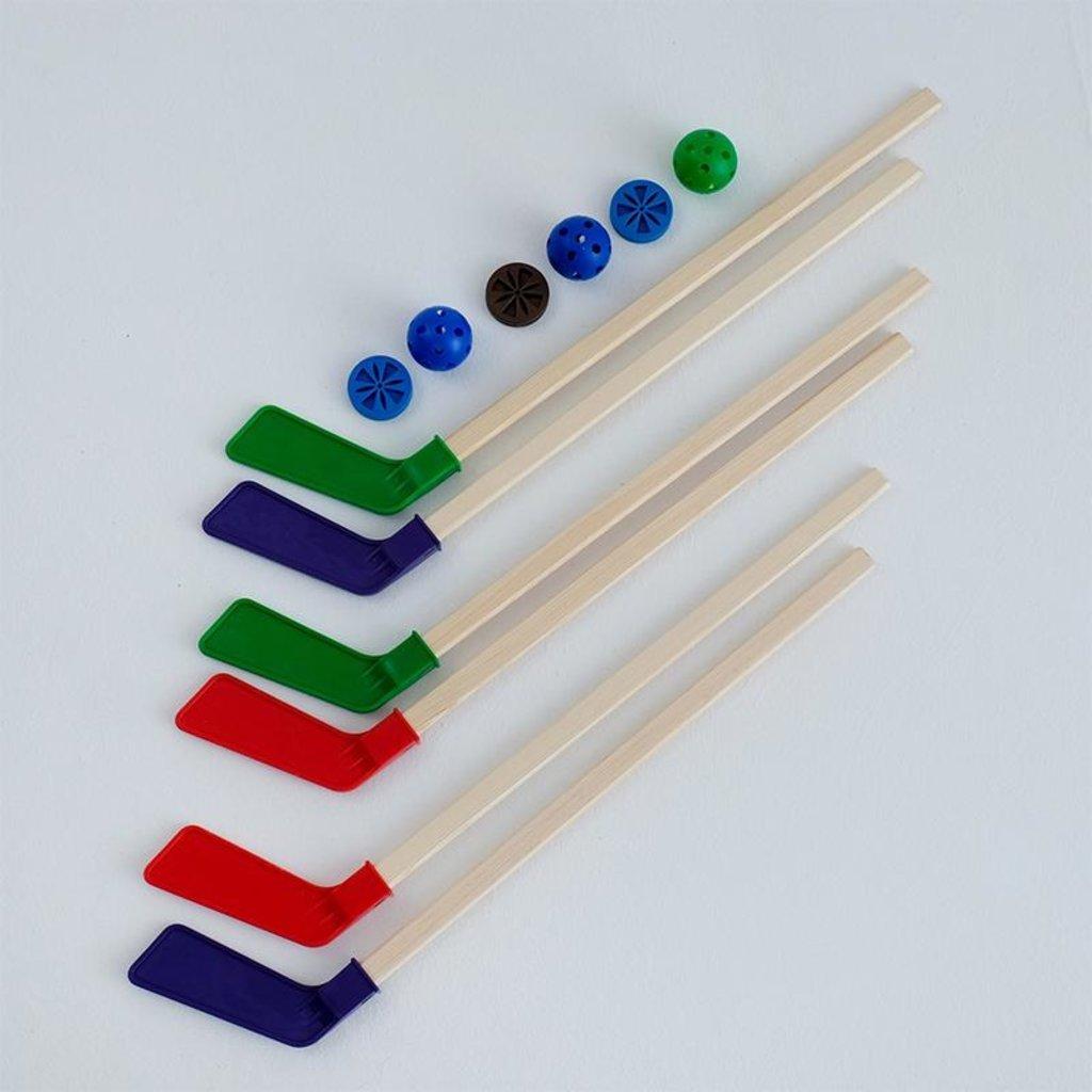 Игрушки для мальчиков: Хоккейный набор  (2 клюшки детские + шайба + мячик) в индивидуальной упаковке MPSport  05-04 в Игрушки Сити