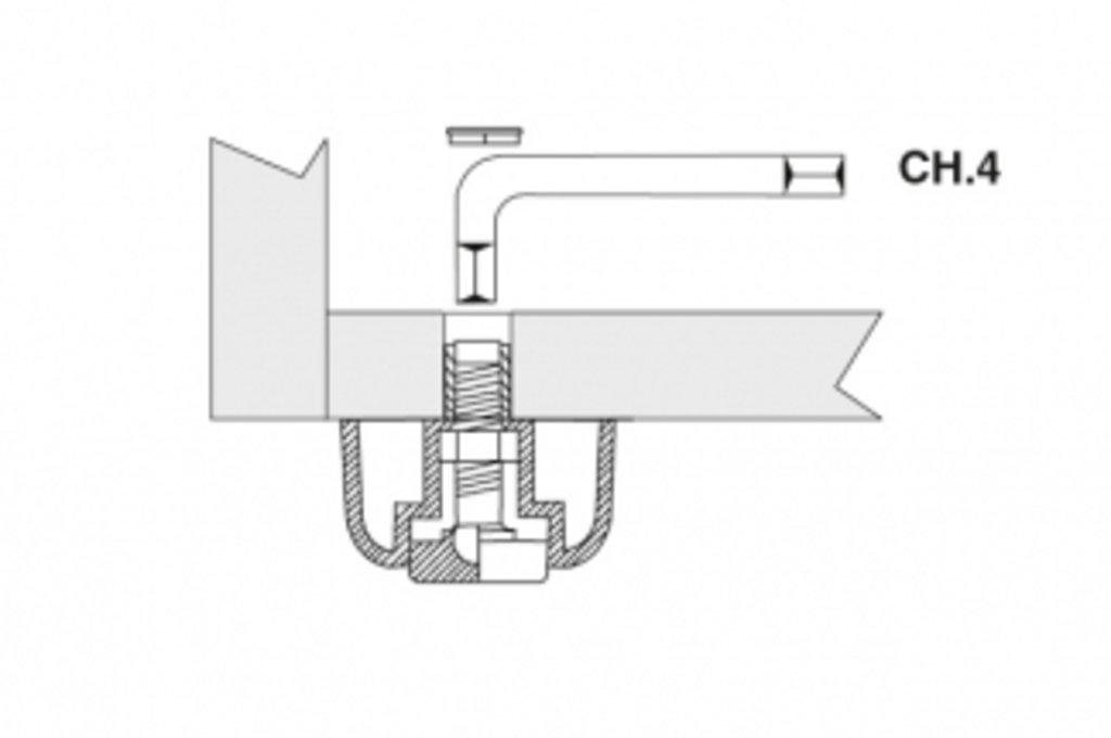 Ножки накладные: Комплект ножек d.50мм, h.27мм, отделка чёрная (4шт.) в МебельСтрой