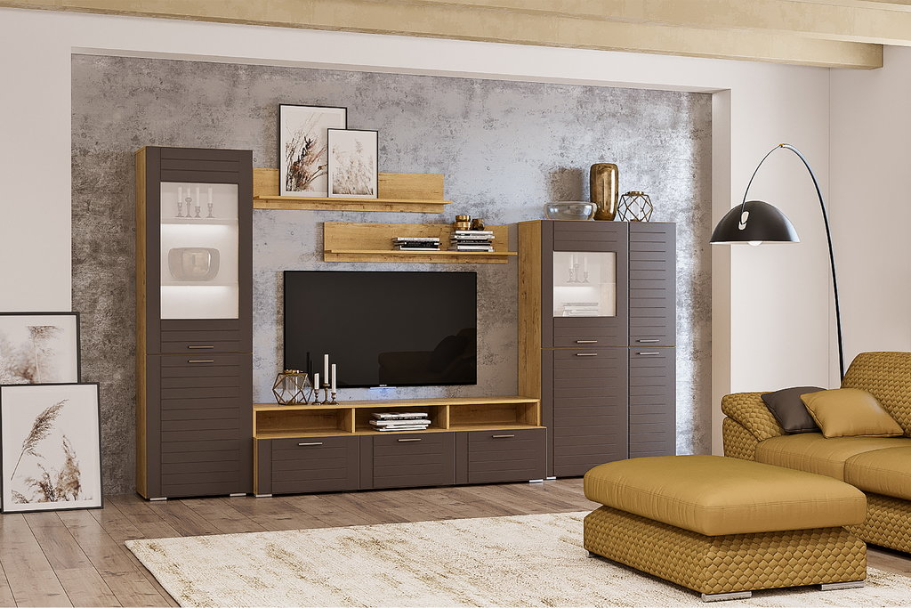 Тумбы и стойки под телевизор и аппаратуру: Надстройка для тумбы ТВА LIVORNO НМ 011.33-01 в Стильная мебель