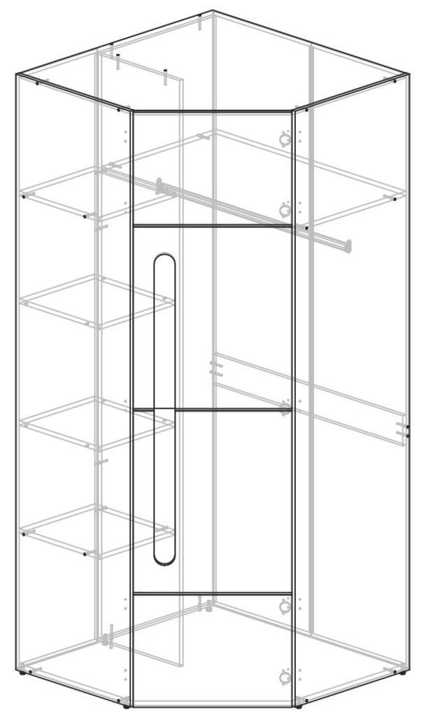 Мебель для спальни Палермо: Шкаф угловой Палермо в Диван Плюс