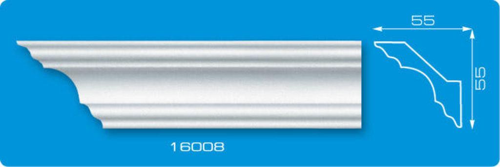 Плинтуса потолочные: Плинтус потолочный ФОРМАТ 16008 инжекционный длина 1,3м, средний в Мир Потолков