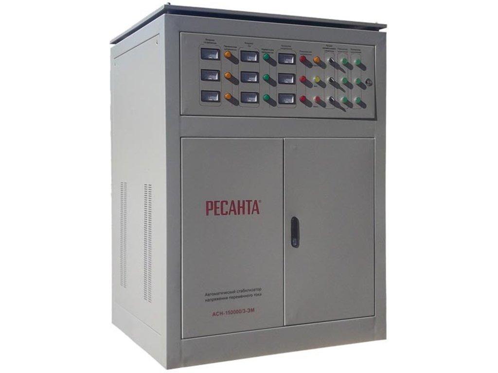 Электромеханического типа: Трехфазный стабилизатор электромеханического типа РЕСАНТА АСН-150000/3-ЭМ в РоторСервис, сервисный центр, ИП Ермолаев Д. И.