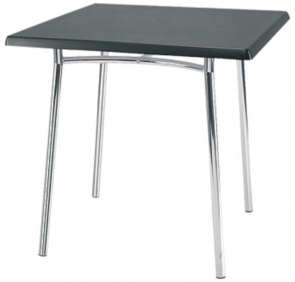 Столы для ресторана, бара, кафе, столовых: Стол квадрат 800х800, подстолья 1276 ЕМ хром в АРТ-МЕБЕЛЬ НН