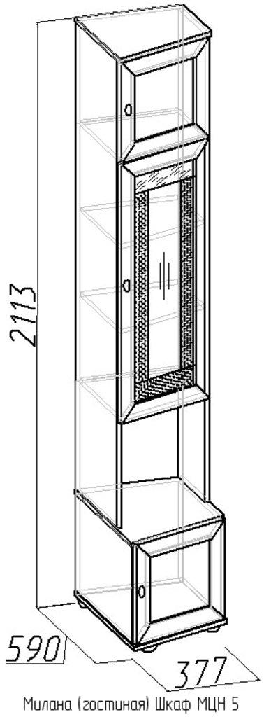Шкафы, общие: Шкаф МЦН 5 Милана в Стильная мебель