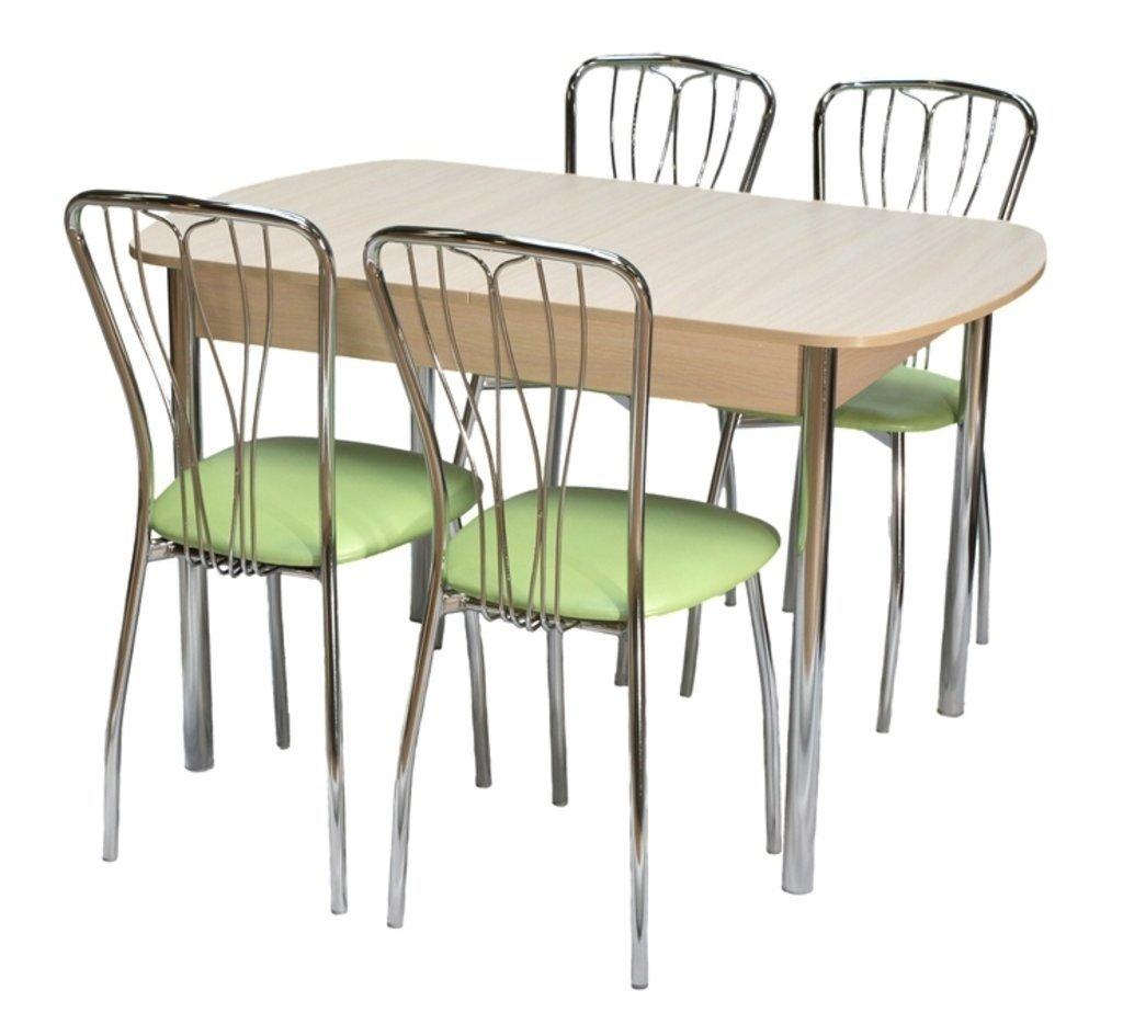 Обеденные группы: Стол ПГ-17 раздвижной + стулья Лилия (хром) в АРТ-МЕБЕЛЬ НН