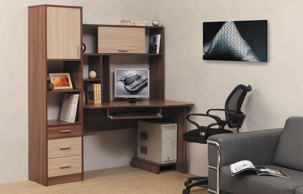 Компьютерные столы: Стол компьютерный ПКС-10 (Олмеко) в Стильная мебель