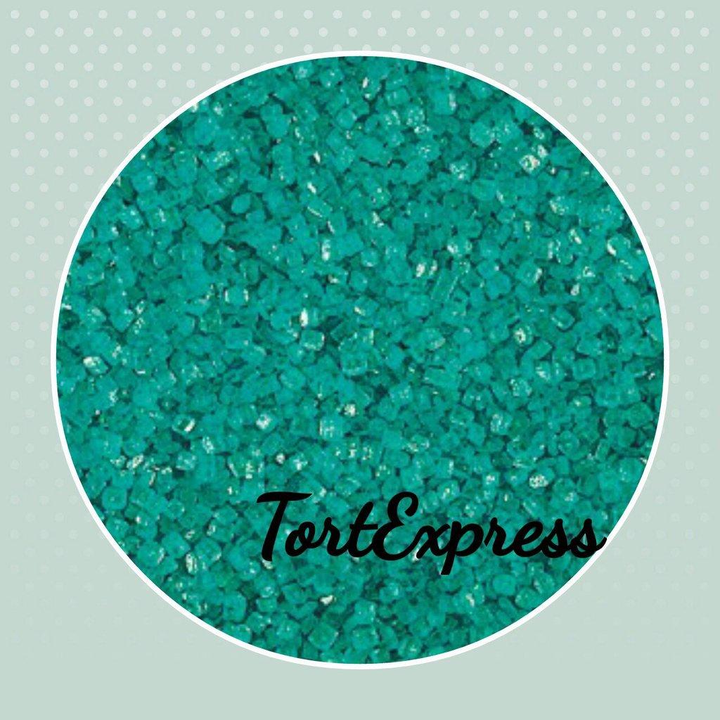 Посыпки декоративные: Декоративный сахар БИРЮЗОВЫЙ в ТортExpress