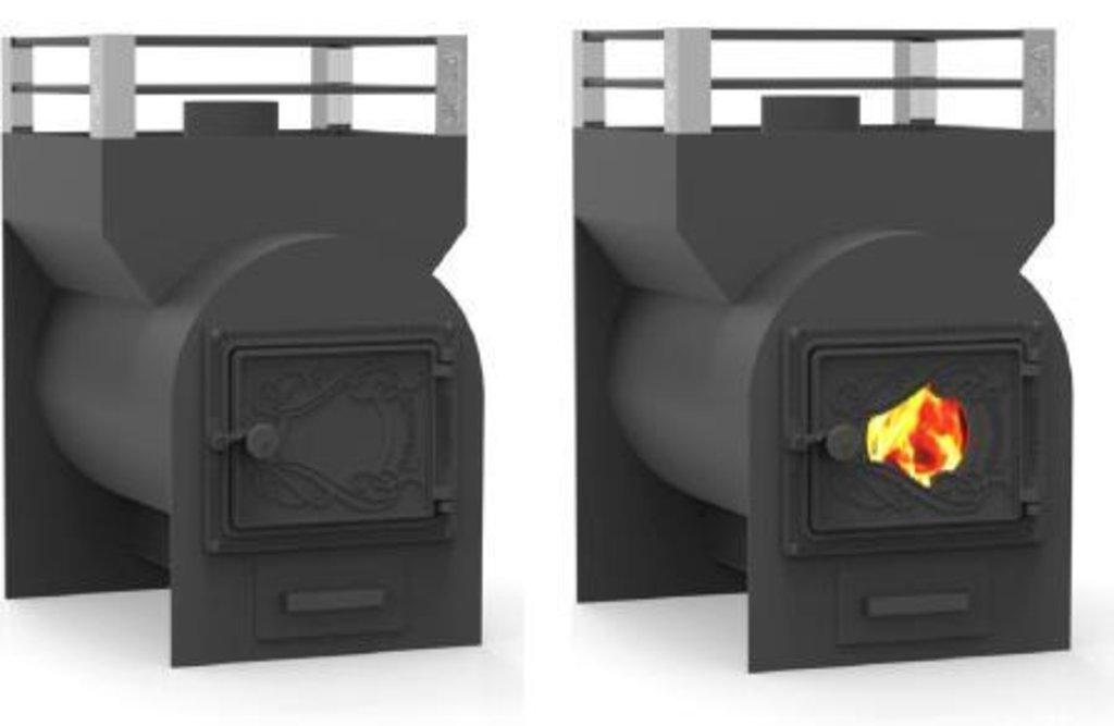 """Печи """"Жара"""": Печь банная ЖАРА-Малютка 500 У с т.э. (чугунная дверка) со стеклом в Сельский магазин"""