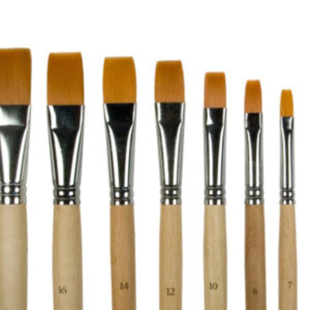 плоская: Кисть синтетика плоская, длинная ручка №4 в Шедевр, художественный салон