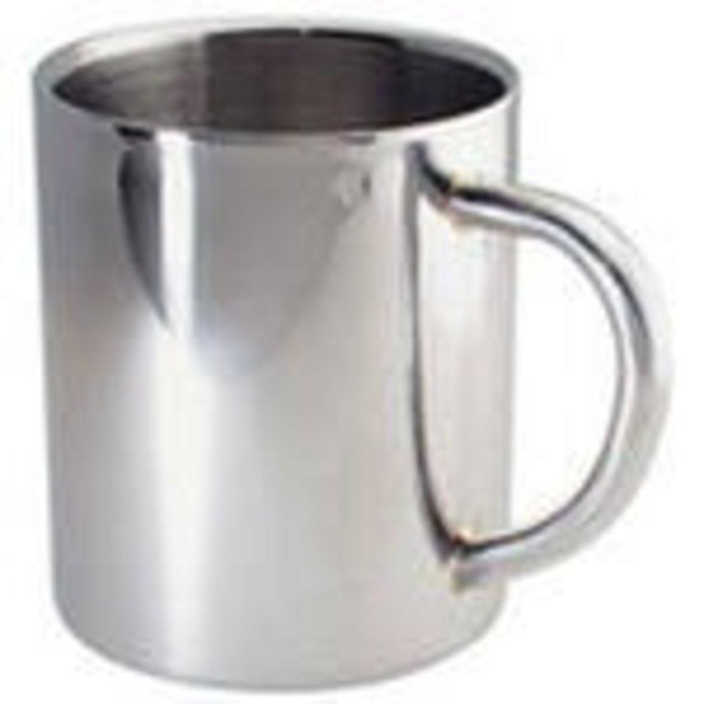 Белые кружки-заготовки: Кружка металлическая Серебро малая в NeoPlastic