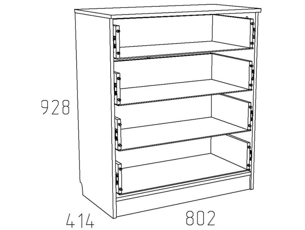 Комоды детские: Комод НМ 013.71-01 Акварель в Стильная мебель