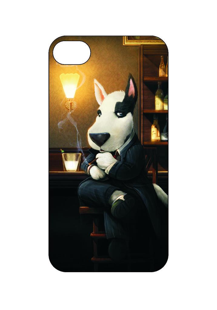 Выбери готовый дизайн для своей модели телефона: Собака в NeoPlastic